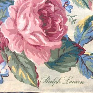 Beautiful Ralph Lauren Floral Silk Scarf, Square